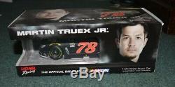Martin Truex Jr 2015 Chevy SS FRR Pocono Raced Win Diecast Autographed 1/24