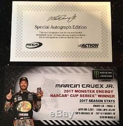 Martin Truex Jr 2017 Nascar Championship Furniture Row 1/24 Autographed Diecast