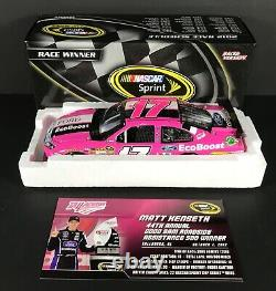 Matt Kenseth #17 Ford Ecoboost Pink Talladega Win 2012 Nascar Diecast 1/24 Ford