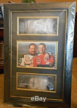 NEW DALE EARNHARDT SR & JR 124 OREO GM GOODWRENCH CARS IN DISPLAY CASE w PHOTO