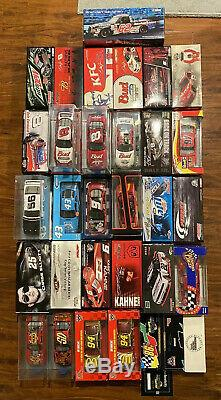 Nascar Lot of 32 Diecast Cars 1/24 Dale Earnhardt Jr Kasey Kahne Bill Elliot Etc