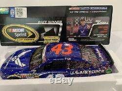 Richard Petty Autographed Motorsports Air Force Daytona Raced Win Aric Almirola