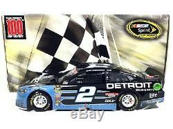 SAMPLE Brad Keselowski #2 Detroit Daytona Win 2016 Ford 1/24 NASCAR Die-Cast