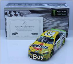 Signed 2018 Ryan Blaney #12 Pennzoil Charlotte Roval Winner Autographed 1/24