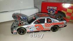 Signed by Dale Earnhardt Sr #3 Limited Edition 1998 Silver Select 1/24 + MORE