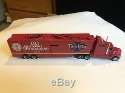 Tim Richmond 1/64 Diecast Transporter Signed By Dale Earnhardt & Richard Petty