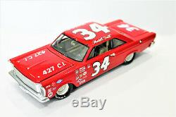 Wendell Scott ACTION #34 427 C. I.'66 Ford Galaxie Nascar Custom Made Diecast