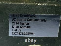 Z4-79 Brad Keselowski #2 Detroit Genuine Parts Color Chrome 2014 Ford Fusion